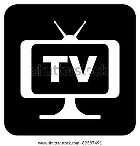 tv icon - stock vector