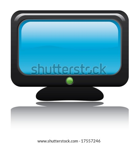 TV Icon. Easy To Edit Vector Image.