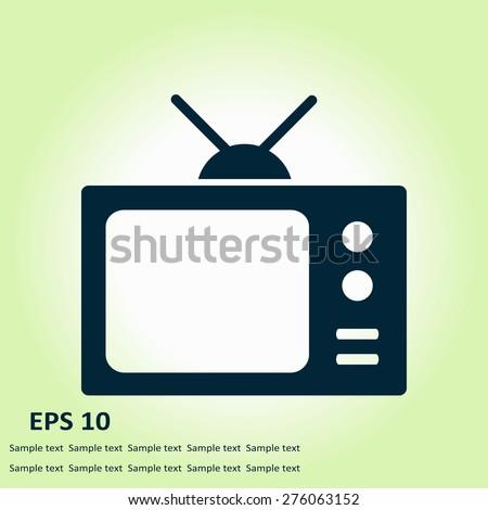 Tv icon. Flat design style. Vector EPS 10.  - stock vector