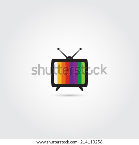 TV icon - Vector - stock vector