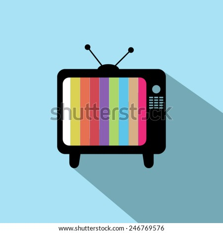 TV icon vector - stock vector