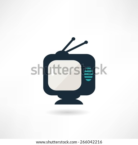 TV, illustration - stock vector