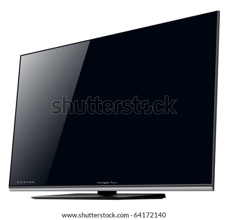 TV lcd, led - detailed vector illustration. - stock vector