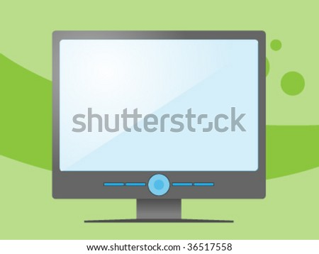 tv monitor icon - stock vector