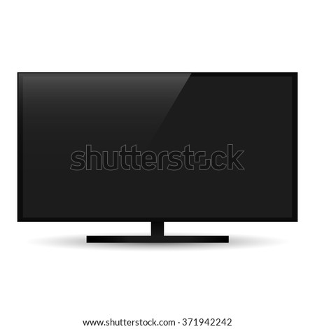 TV monitor  with shadow