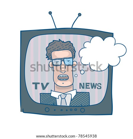 TV news - stock vector