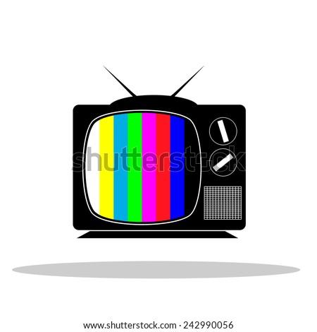 tv no signal monoscope - stock vector