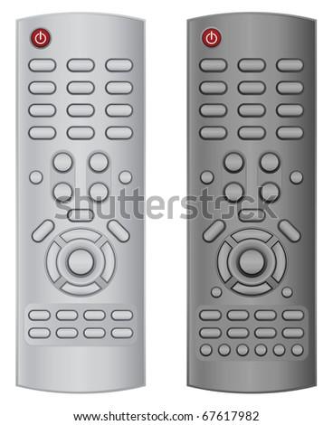 tv remote control - stock vector
