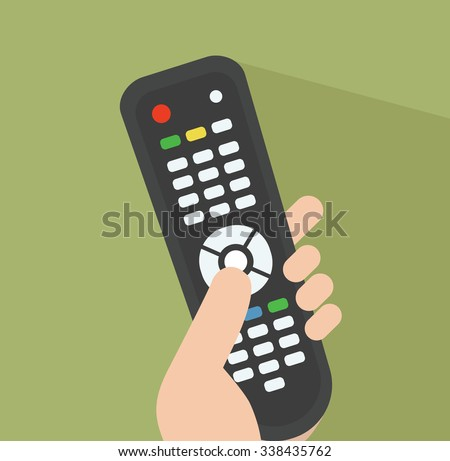 TV remote control Simple illustration Related to watching TV, The Media and Remote control for Your Design. - stock vector
