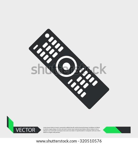 TV remote icon - stock vector