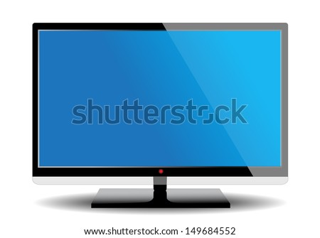 TV Screen - Isolated On White Background - Vector Illustration, Graphic Design Editable For Your Design.