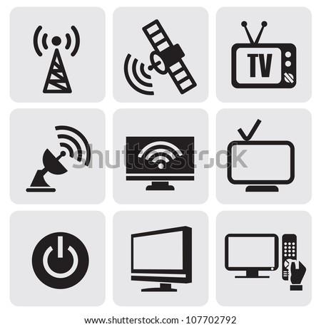 tv screens set - stock vector