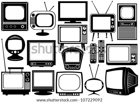 Tv set collage - stock vector