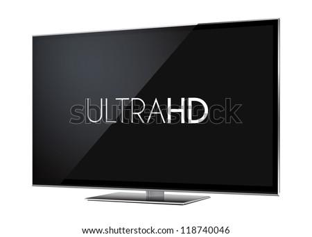 TV Ultra HD - stock vector