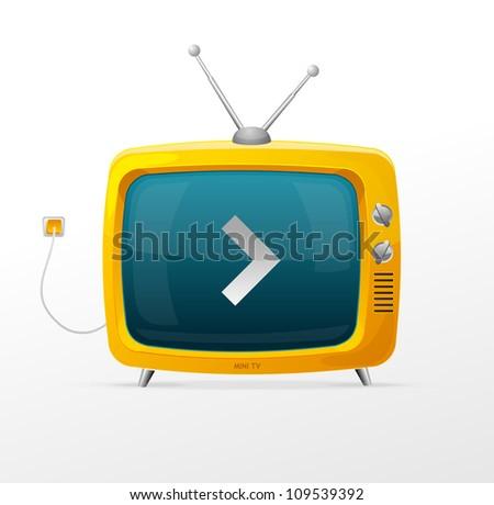 Tv vector - stock vector