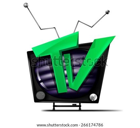 Tv vector icon - stock vector