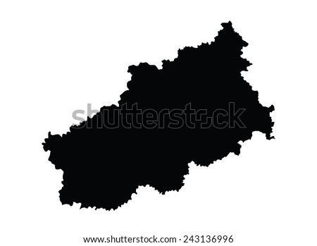 Map Centreval De Loire Greece Vector Stock Vector 640709482