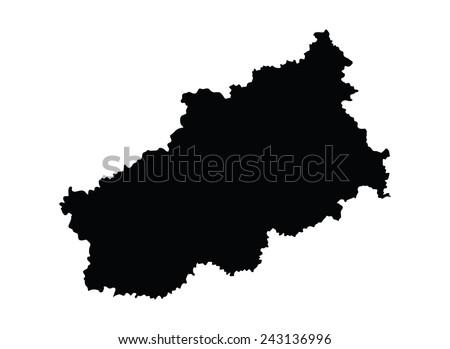 Map Centreval De Loire Greece Vector Stock Vector 640709482