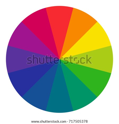 Twelve Part Rgb Color Wheel Complementary Stock Vector 717505378