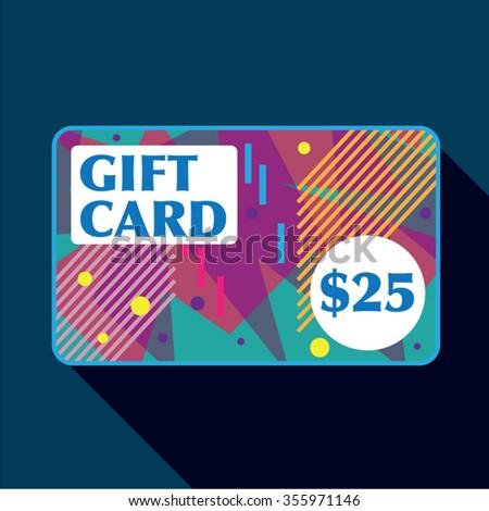 Twenty Five dollar gift card Vector - stock vector