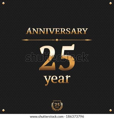 Twenty five years anniversary card - stock vector