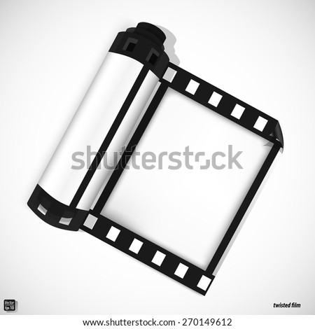 Twisted film. Vector illustration eps 10 - stock vector