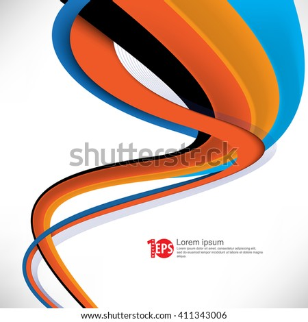 twisting lines elements design material background. eps10 vector - stock vector