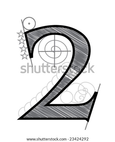 Two - stock vector