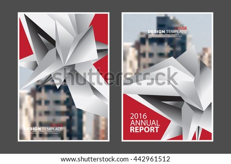 Two A4 size, abstract geometric elements marketing business corporate design template. eps10 vector - stock vector