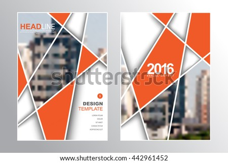 Two A4 size, abstract intersecting lines elements marketing business corporate design template. eps10 vector - stock vector