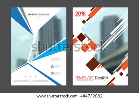 Two A4 size, abstract technology elements marketing business corporate design template. eps10 vector - stock vector