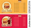 two banners for the fast-food with hamburger and cola - stock vector
