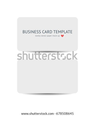 Two business cards round corners template stock vector 678508645 two business cards with round corners template mockup isolated on white background realistic vector white reheart Gallery
