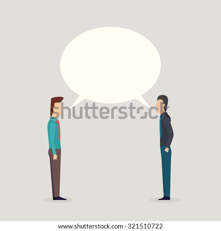 Two businessman talking - stock vector