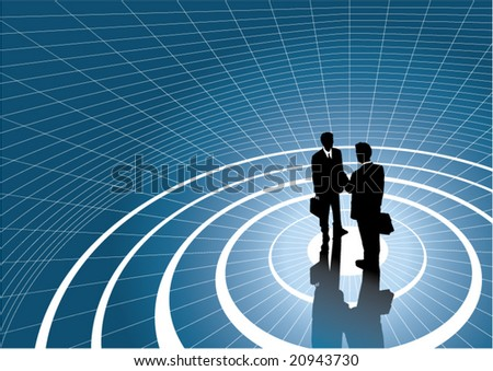 two businessmans - stock vector