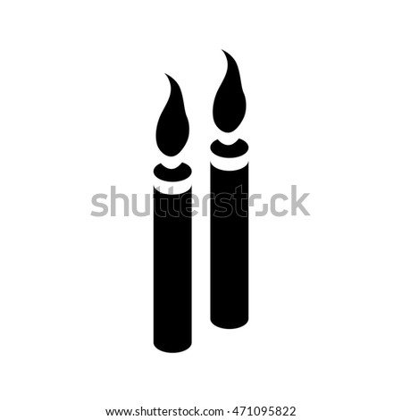 Two candles icon in simple style on a white background