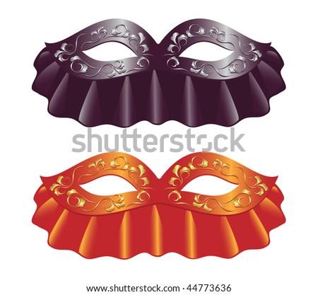 Two carnival masks. Vector-Illustration - stock vector