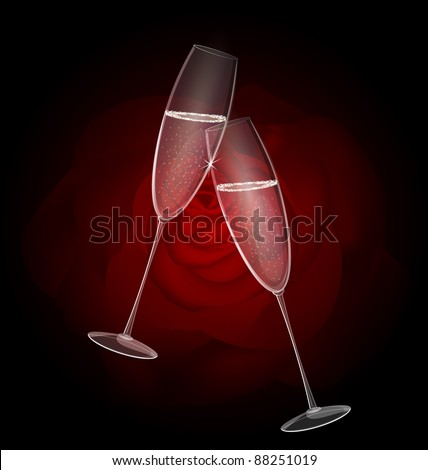 two champagne - stock vector