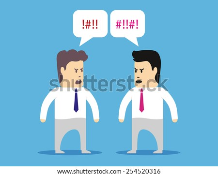 Two colleagues managers quarrel with each other - stock vector