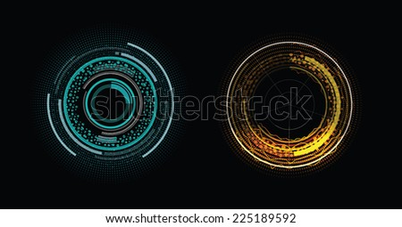 Two color elements of head-up display - stock vector