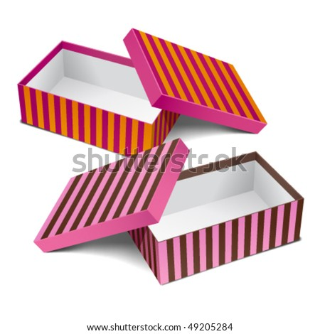 Two colorful design empty boxes. Editable vector. - stock vector
