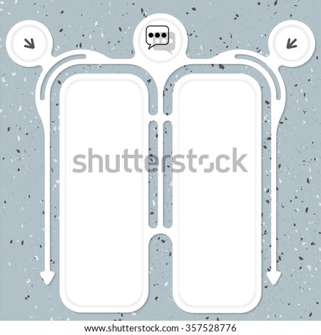Two connected frames for your text and speech bubbles - stock vector