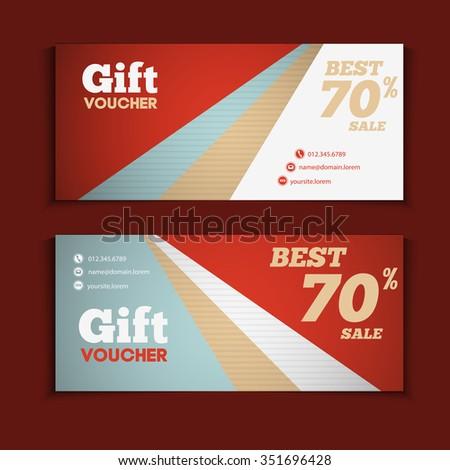 Two Coupon Voucher Design Gift Voucher Vector 351696428 – Coupon Voucher Template