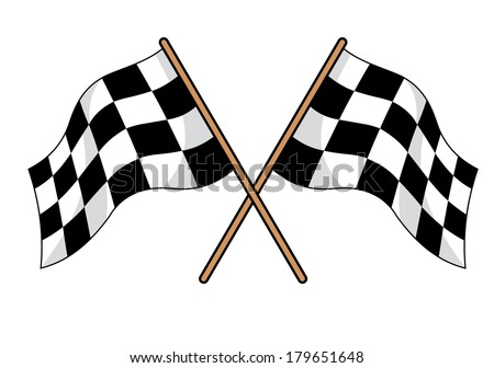 two crossed black white checkered flags stock vector hd royalty rh shutterstock com checkered flag logo art checkered flag logo vector