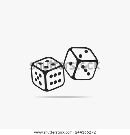 Two Dice Cubes. - stock vector