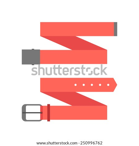 two different red belt. isolated on white background. flat style trendy modern design vector illustration - stock vector
