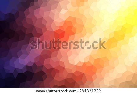 Two dimensional mosaic colorful background for web - stock vector