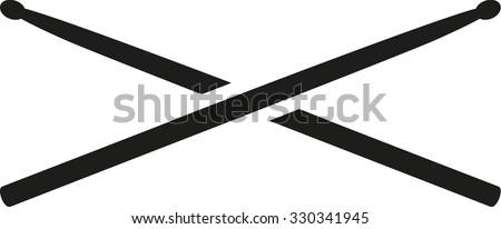 Two Drum Sticks Stock Vector 330341945 - Shutterstock