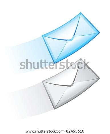 Two e-mail vector icon. - stock vector