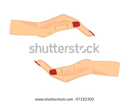 Two female hands - stock vector